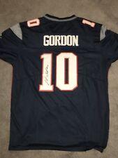 Josh Gordon Autographed Jersey Home Blue New England Patriots JSA WITNESS