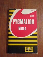 "Coles Notes on George Bernard Shaw's ""Pygmalion"""