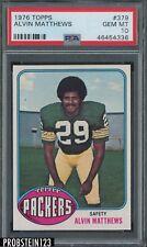 1976 Topps Football #379 Alvin Matthews Packers PSA 10 GEM MINT