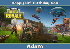 Fortnite personalised A5 birthday card son daughter brother grandson name age