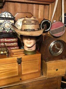 NWT BULLHEAD Full Speed Natural SHAPEABLE Straw Cowboy Hat Sz M NEW