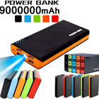900000mAh 4 USB Backup External Battery Power Bank Pack Charger for Cell Phone