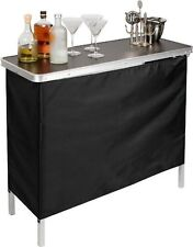 Portable Bar Folding Table Cocktail Party Drink Patio Tailgate Outdoor Furniture