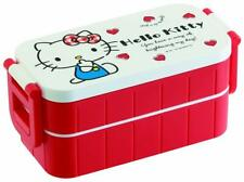New 2 Stages Hello Kitty Lunch Food Container/Bento Box 600ml - Made In Japan