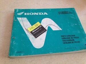 Honda VT600C Shadow VT600 C Cv CDV VT 600 Piezas Lista Catálogo Pieza Suelta