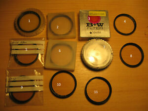 B+W FILTERS 52MM MINT £5 EACH FREE POST ON 2ND + etc