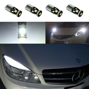 4x White LED Error Free Eyebrow Eyelid Light Bulbs For Mercedes Benz C300 C350