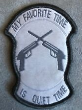 10-Pack Wholesale Morale Patch Hook My Favorite Time is Quite Time ACU Patch