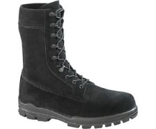 "BATES 9"" US NAVY SUEDE DURASHOCKS STEEL TOE WORK BOOTS  Men's 13 M Black Rough"