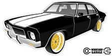 New! Collectable Holden HQ Monaro GTS 4Door - Black with Gold Rims