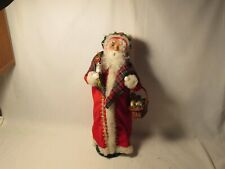Byers Choice 2011 Magnificent Santa with Plaid Scarf and Basket of Cookies New