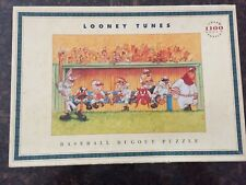 Vintage 1993 Looney Tunes Baseball Dugout Puzzle 1100 Pieces - Complete
