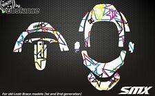 Sulfametazolo grafiche per LEATT BRACE Protezione collo GPX Club Adesivi Decalcomanie Motocross