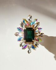 New Crystal Bling Bling Phone Grip Holder - (Green and Clear)