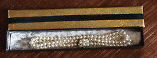 Immitation Pearl Necklace/Choker with Diamante/Pearl Clasp NEVER WORN