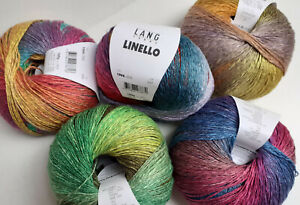 Linello von Lang Yarns  11,95€/100g Streifen  Leinen/Baumwollmischung Sommergarn