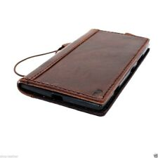 genuine Leather Case for Nokia Lumia 1020 book Wallet Phone cover brown slim new