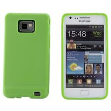 Samsung Galaxy S2 SII i9100 Green Soft Silicone Smooth Practical Case Cover Skin