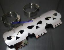 Skull exhaust muffler pipe heat shield cover talon garde pour harley electra glide