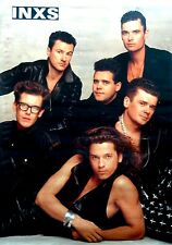 POSTER - INXS  - PHOTO BY: ANNIE LIEBOWITZ (PRINTED IN GERMANY 1988) NUEVO - NEW
