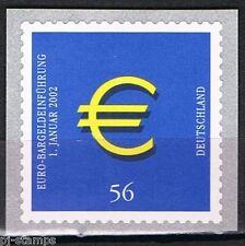 Duitsland 2002 2236 invoering euro, zelfklevend met nummer