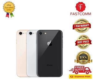 Brand New Apple iPhone 8 64GB/256GB Grey Silver Gold Unlocked Cheap Free Express