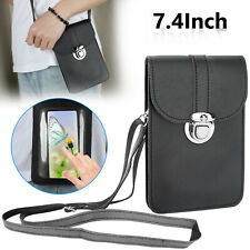 Women Shoulder Crossbody Bag Touch Screen Phone Pouch Case For iPhone Samsung US