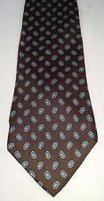 SCHRETER 100% Silk Men's Tie Brown Teal Paisley NWOT X-LONG