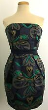 French Connection Wizard Strapless Cotton Spandex Navy Blue Mini Dress Size 6