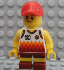 LEGO Town City Boy with Short Legs Jersey 39 and Red Hat Beach Ocean Summer
