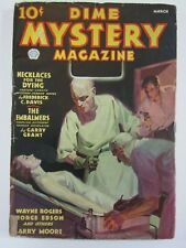 Dime Mystery Magazine March 1936 VG  Necklaces for the Dying! Pulp