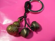 Feng Shui Chinese Lucky Keychain Ring Long Life Charm Figurine Hulu Gourd