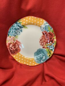 "The Pioneer Woman New Blossom Jubilee Yellow 10.5"" (1) Dinner Plate"