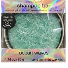 Body and Earth Shampoo Bar, Volumizing Formula with seaweed extract and sea salt