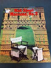 70's Vintage Mad About Macrame, No. 2 Instruction Pattern Craft Booklet