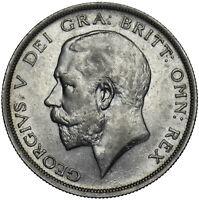 1918 HALFCROWN - GEORGE V BRITISH SILVER COIN - V NICE