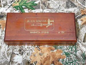 Buck knife Washita #134 sharpening honing stone in box.