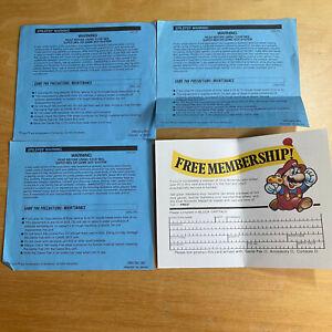 3 x Gameboy Original Blue Epilepsy Warning Manual DMG-UKV + Club Nintendo Card