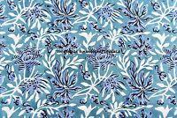 5 Yard Hand Block Print Cotton Indian Natural Sanganeri Print Fabric Bohemian