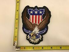 Love it or Leave it Patch American Flag Eagle USA iron-on sew-on new