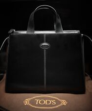 Tod's Leather Purse Black Over The Shoulder Handbag with Strap and Dust bag
