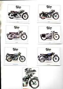 VELOCETTE MOTORCYCLES  A SERIES OF 6 CARDS +COVER CARD GOLDEN ERA ISSUE MINT