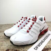Nike Shox NZ White / University Red 378341 110 Men's Size 11
