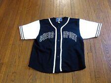 Men's VTG 90's Guess Jeans Sport USA Black White Baseball Jersey ASAP Rocky sz S