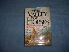 THE VALLEY OF HORSES by Jean M. Auel/1st Ed./Signed/HCDJ/Literature/Adventure