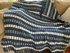 "Navy And White Throw 48"" by 60"". NWOT"