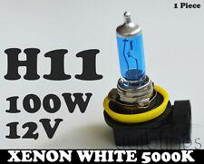 1 x H11 12V 100W Xenon White 5000k Halogen Blue Car Head Light Lamp Globes Bulbs