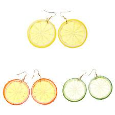 3 Medium Colors Tropical Fruit Lemon Pendant Earrings for Women Jewelry Earrings