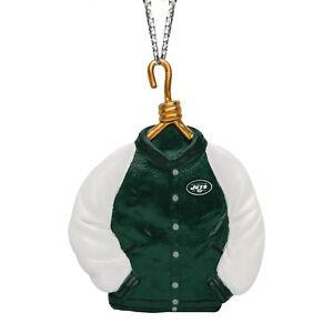 New York Jets Christmas Tree Holiday Ornament New - Team Logo Varsity Jacket