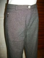 Pantalon habillé laine gris  LEWINGER taille 42 fluide poches zip 18PA3